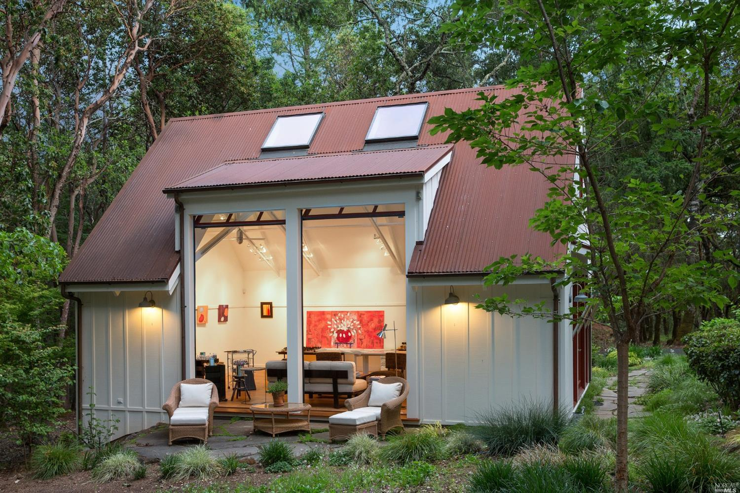 Robert Redford's house for sale in St. Helene includes this serene art studio that has one bedroom and one bath.