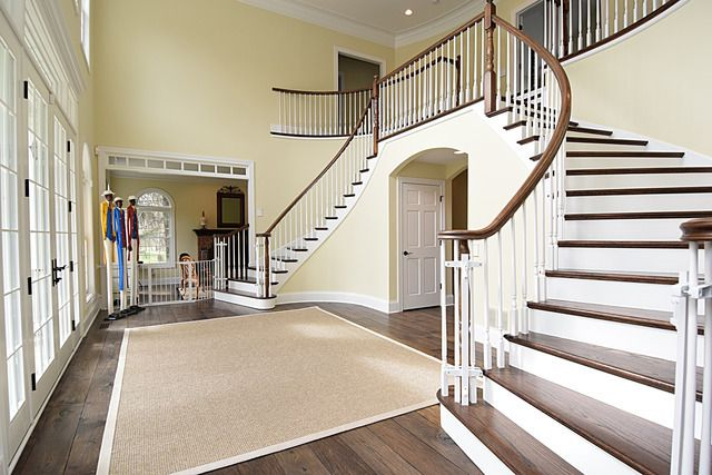 Rotunda Stairway inside house for sale Illinois
