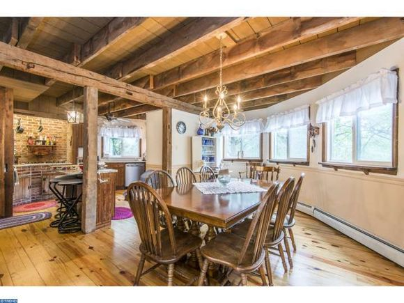 Rustic style Dining Room in unique West Chester PA house - estately