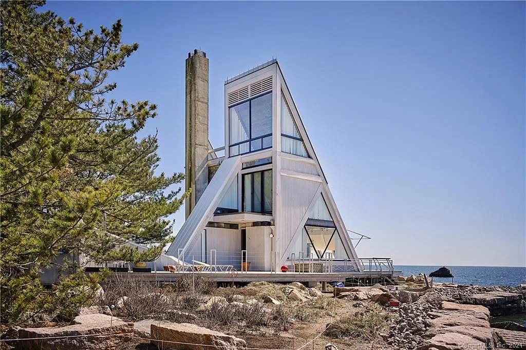 Sailboat House in CT for sale is a architectural wonder.