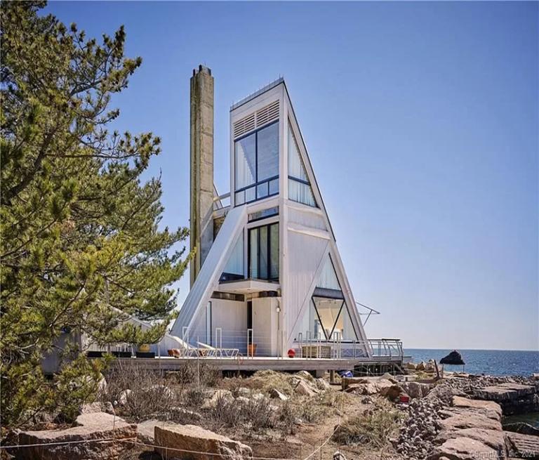 A Magical Sailboat House Along The Beach