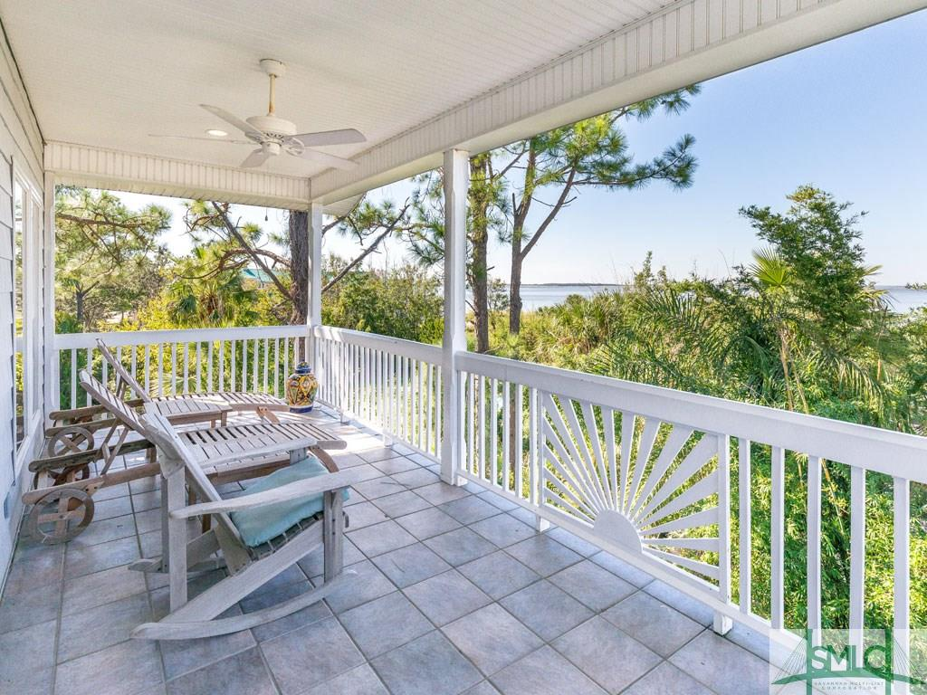 Sandra Bulllock Tybee Island Beach House for sale - Guest House porch views