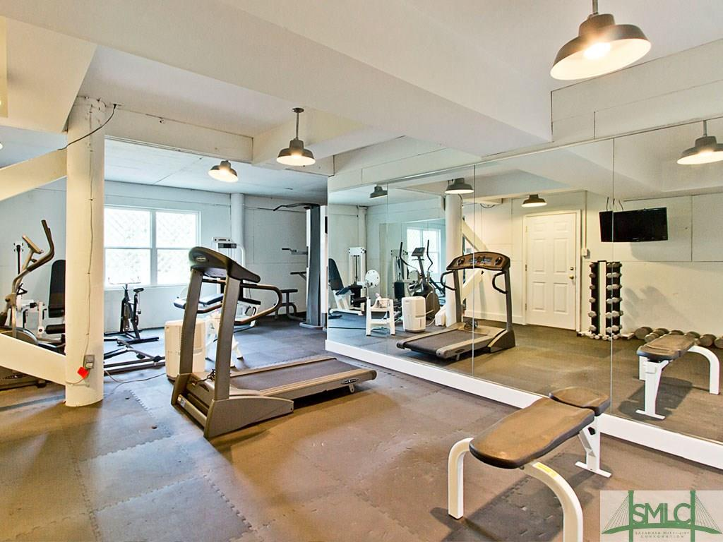 Sandra Bulllock Tybee Island Beach House for sale - exercise room