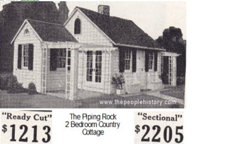 Sears Home The Piping Rock 2 Bedroom Country Cottage
