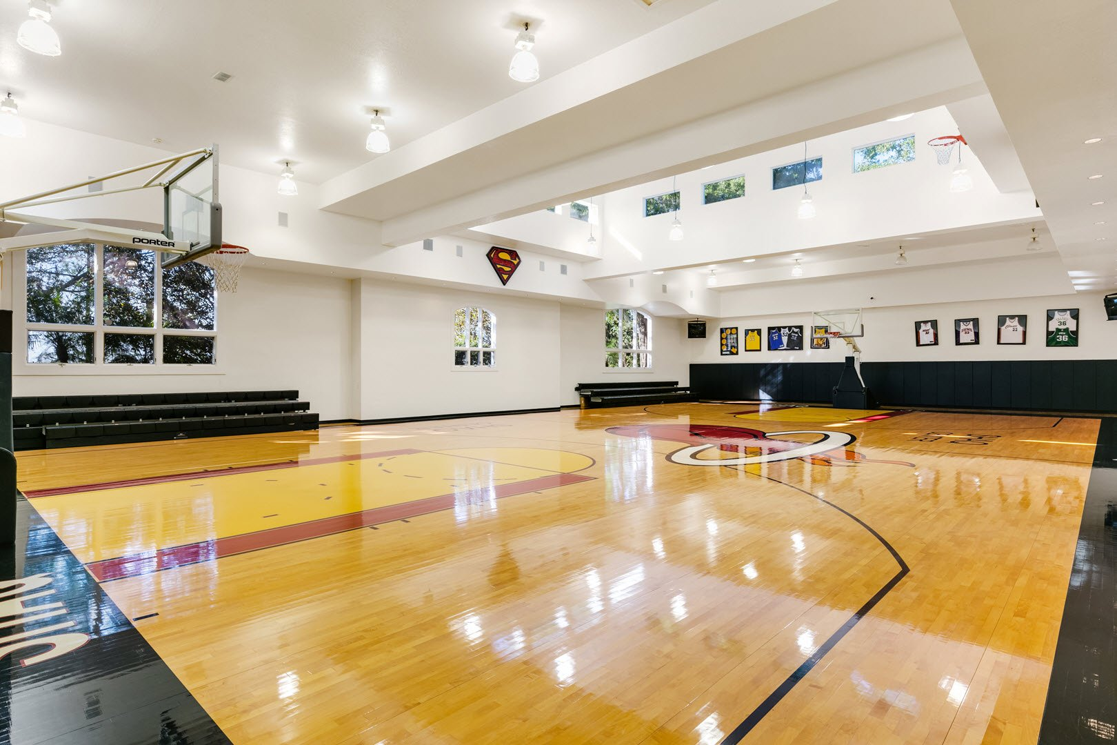 Shaquille O'Neal Florida Mansion For Sale - 6000 square foot basketball court