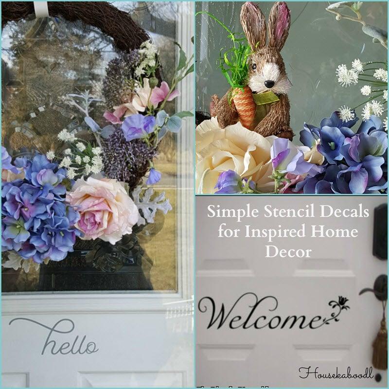 Simple Stencil Decals Inspiring Home Decor Ideas