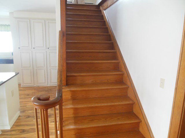 Stairway to four bedrooms