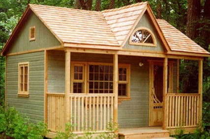 Cabin style shed converting sheds into livable spaces