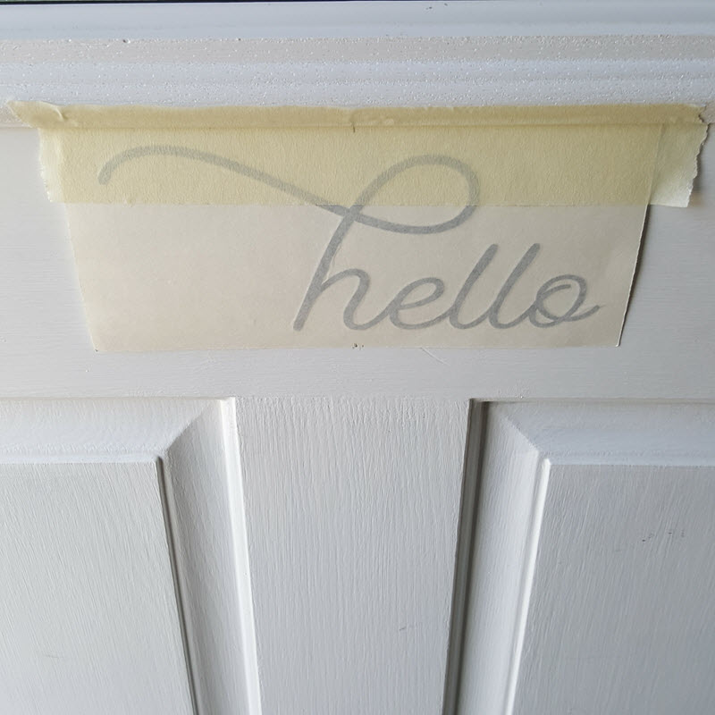 THE SIMPLE STENCIL HELLO DECAL