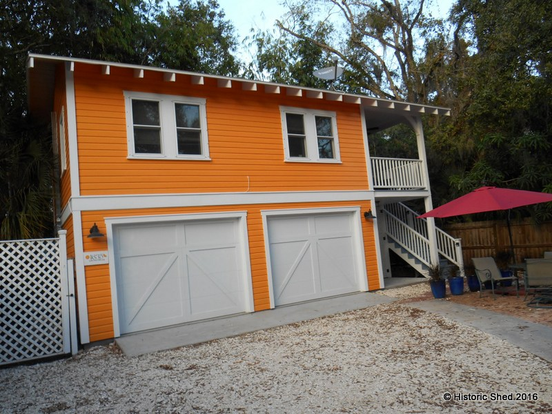 Tangerine Carriage House Designed by Historic Shed