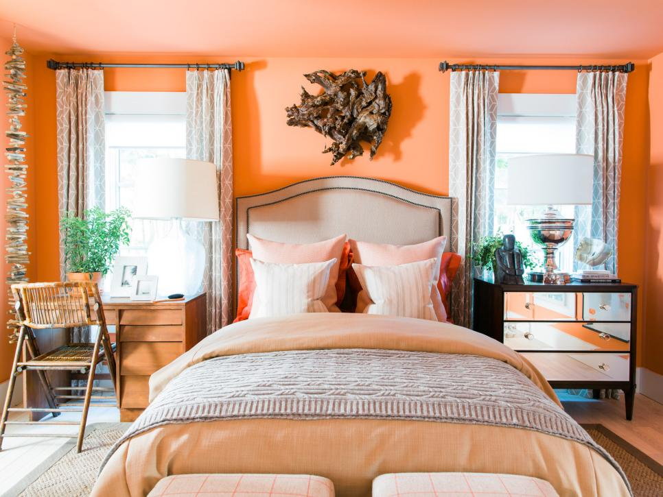 Terra Cotta Wall Color In The Hgtv Dream Home 2016 Guest Bedroom