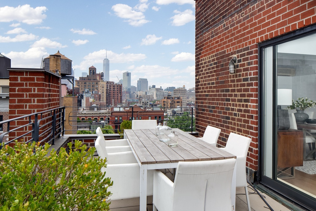 Terrace views - Julia Roberts apartment in Greenwich Village on the market