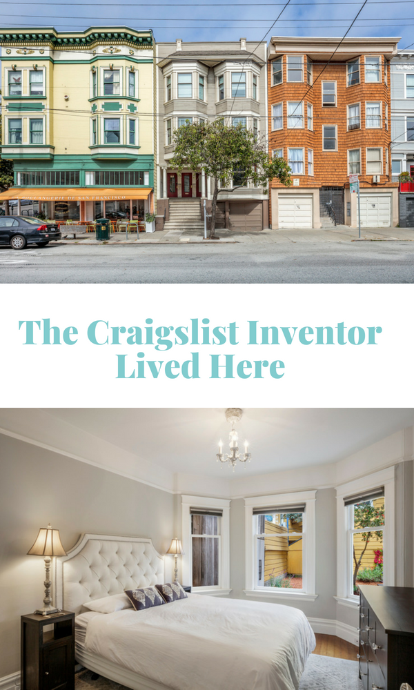 The Craigslist Inventor Lived Here in San Francisco and the house is for sale.