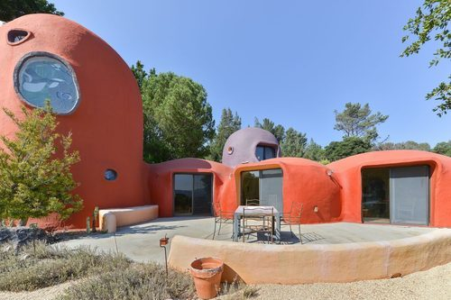 The Flintstone House is for sale for 4.2 million at 45 Berryessa Way Hillsborough CA - curbed sf