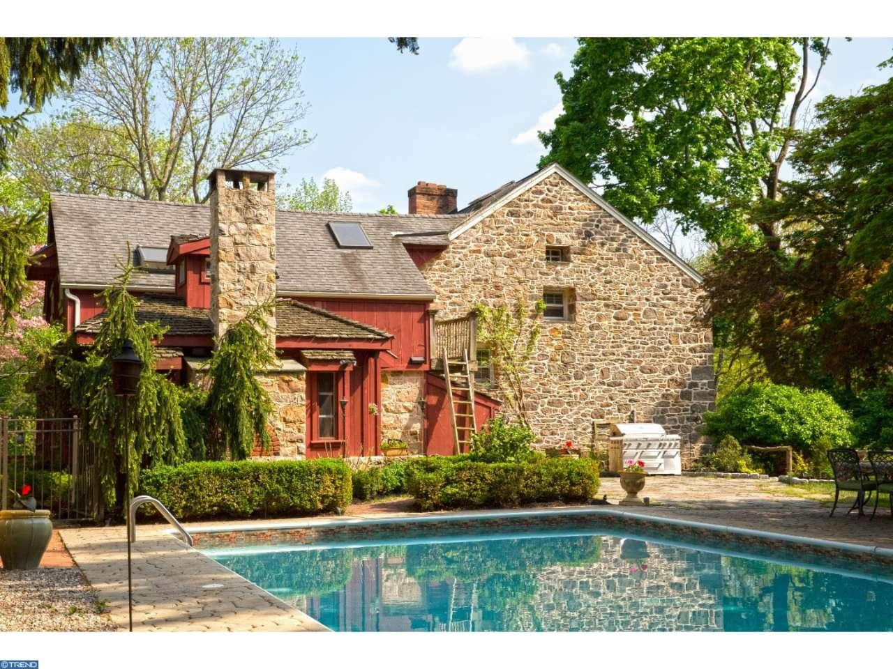 The Leap Year Barn a Storybook home for sale in Doylestown PA is a must see old world style built in 1752