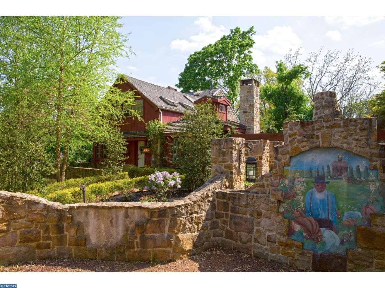 The Leap Year Barn Storybook house 115 Arrons Ave Doylestown PA for sale - magnifcient home