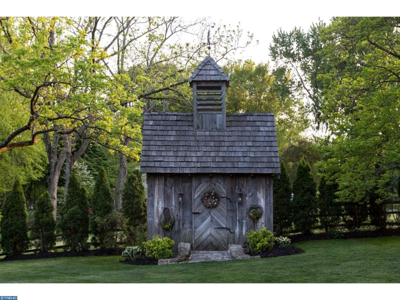 The Leap Year Barn Storybook house 115 Arrons Ave Doylestown PA for sale - shed