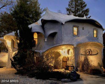 The Mushroom House in Bethesda Maryland