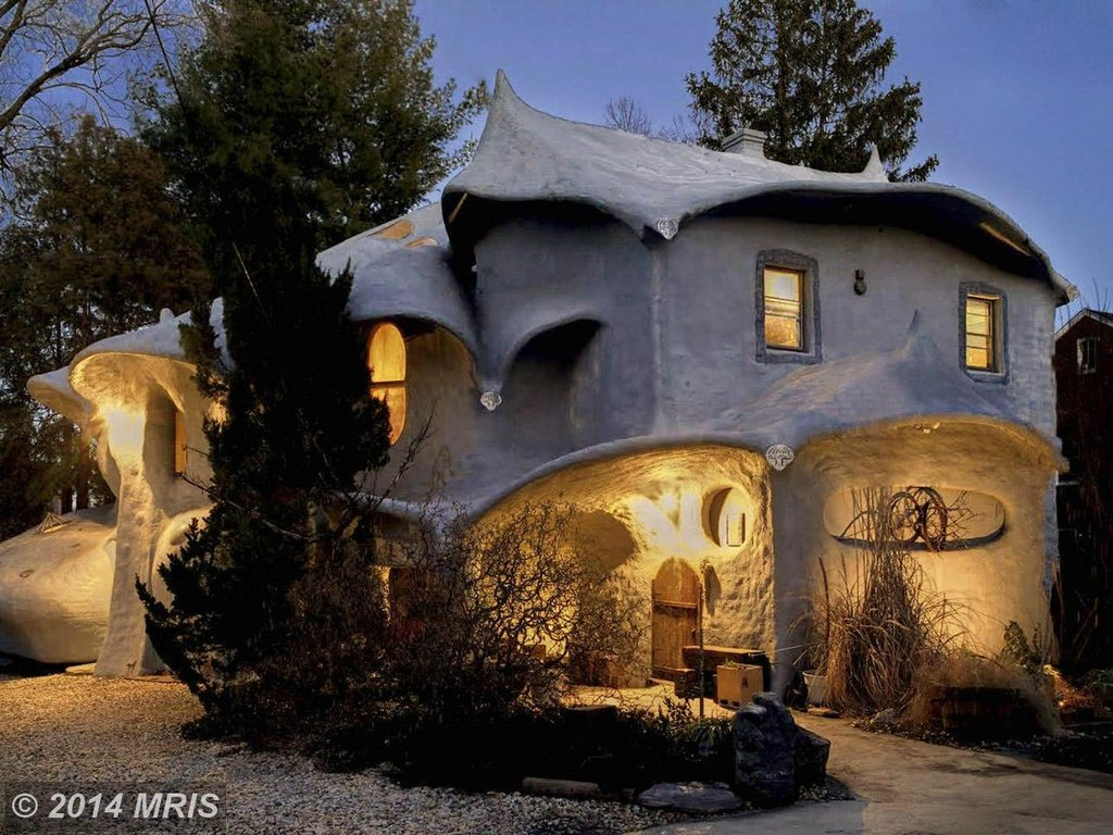 A Fanciful Mushroom House In Bethesda Maryland