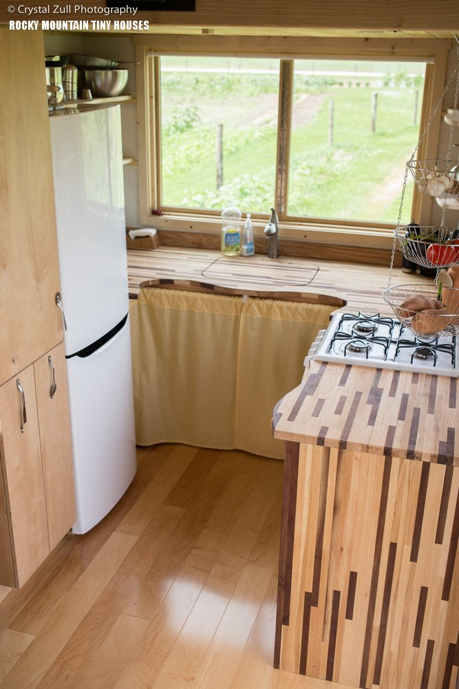 The Pequod tiny house kitchen