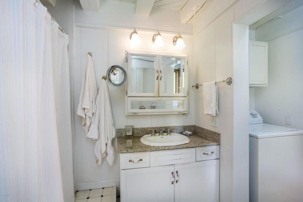 The Santarella Gingerbread House Estate in MA for sale bathroom