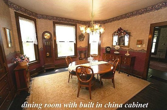 The Silence of the Lamb movie house dining room with built in china cabinet