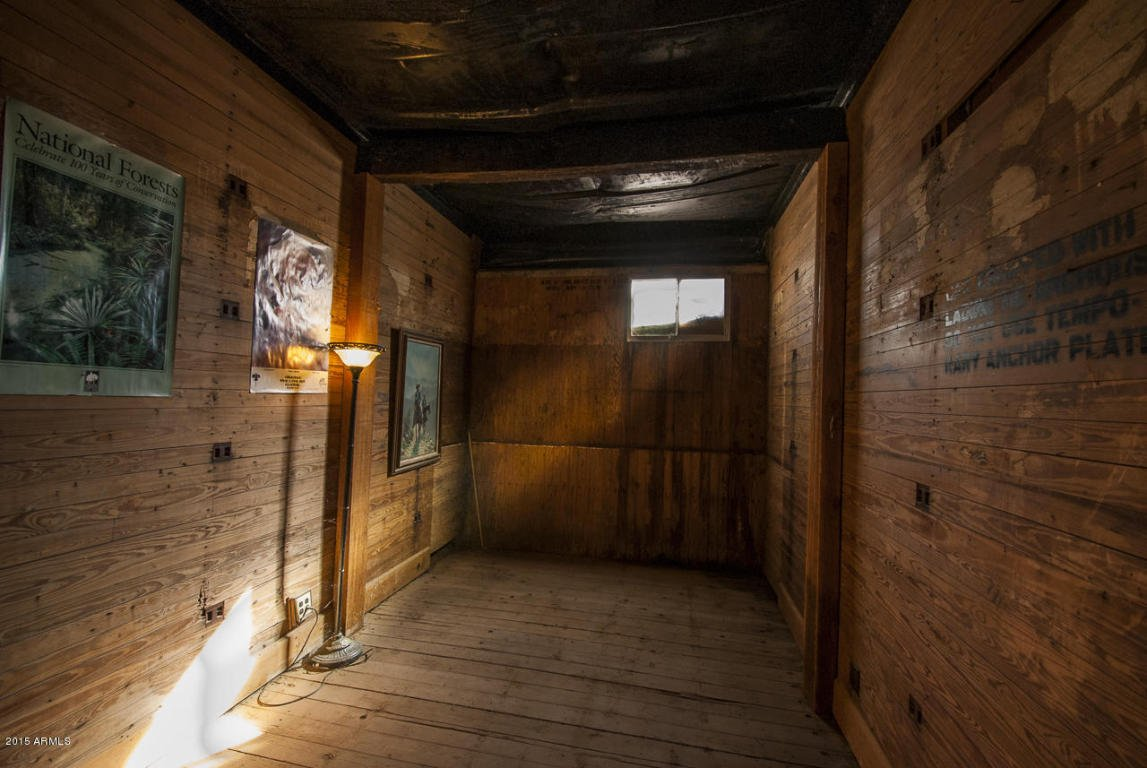 The basement is made from buried railroad cars