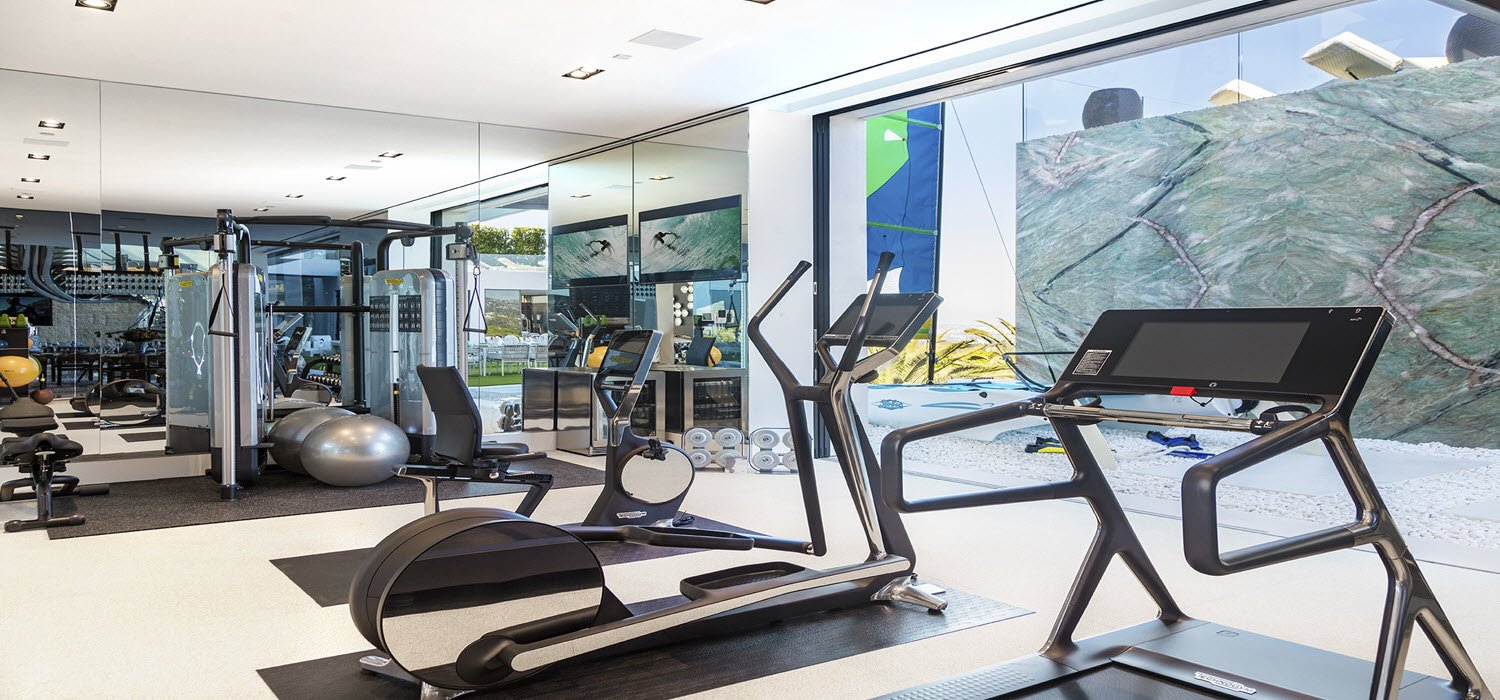 The gym in America's Most Expensive Home