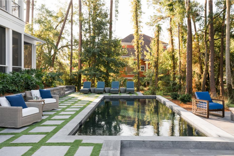 2020 HGTV Dream House pool by Designer Brian Patrick Flynn