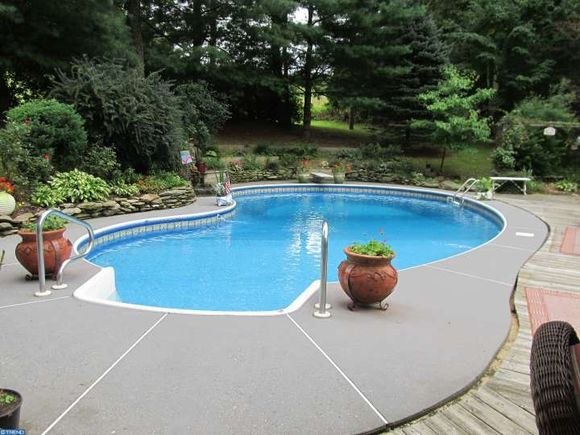 The pool at the unique West Chester PA house for sale - estately