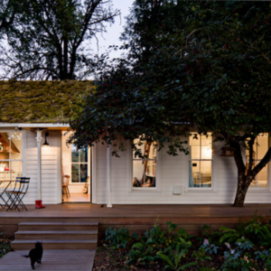 Tiny White Farmhouse via Houzz