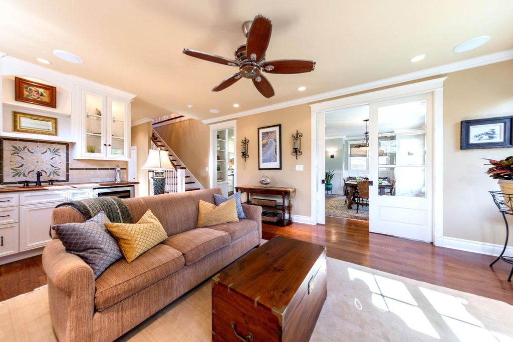 Traditional Home: Beautiful Craftsman Interior in Los Gatos CA for sale - Family Room