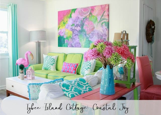 Tybee Island Mermaid Cottage Colorful Coastal Joy