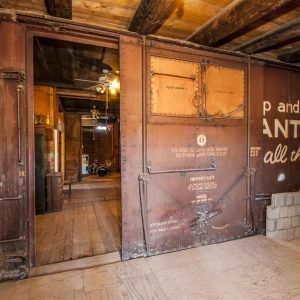 Unbelievable basement in this house is Arizona is made from buried railroad cars
