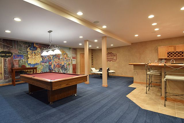 Finished basement Warrenville IL estate for sale