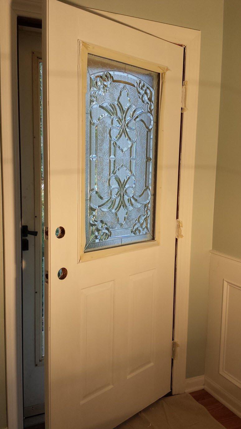 How To Add A Decorative Glass Window To A Fiberglass Door