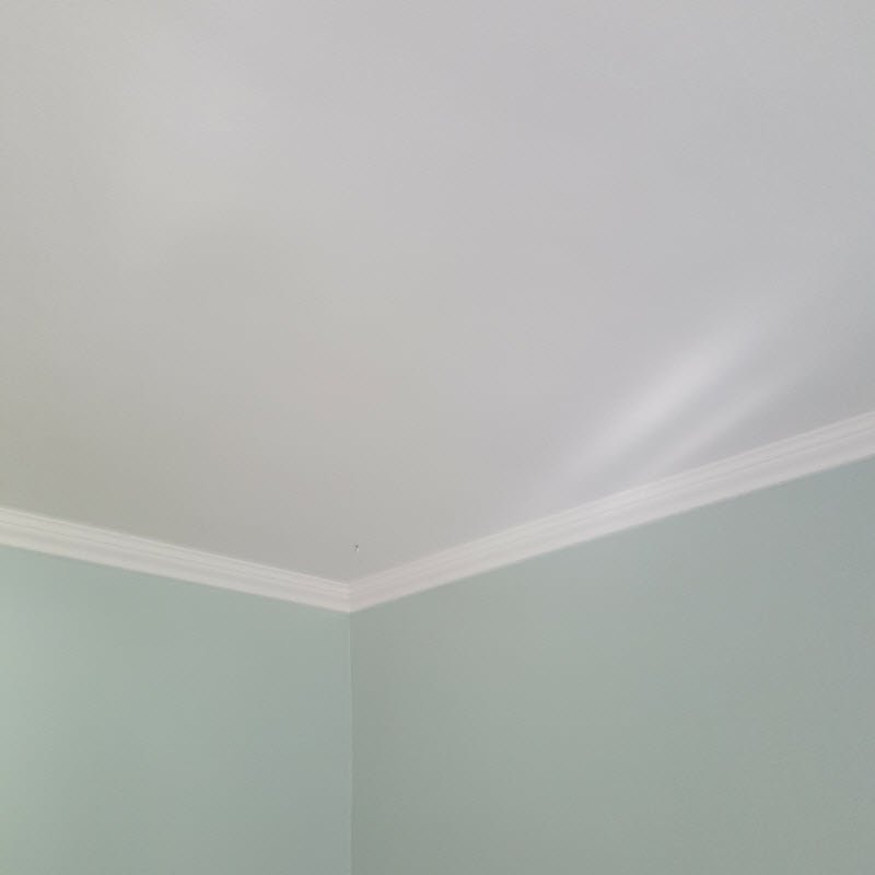 White ceiling and Palladian Blue walls