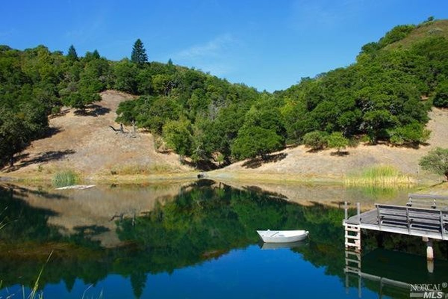 Wonderful Robin Williams Napa Valley Villa property boasts a sping fed pond as part of its 600 + acres