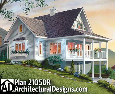 11 Cottage House Plans To Love - Country Vacation Cottage