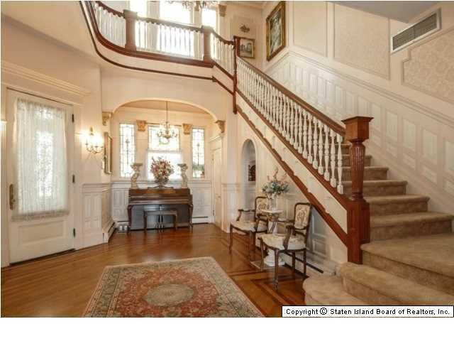 Elegant Victorian home entrance - 269 Howard Ave Staten Island NY for sale